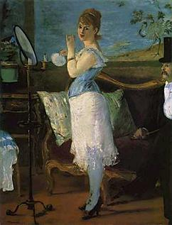 La nana de manet for Devant le miroir manet